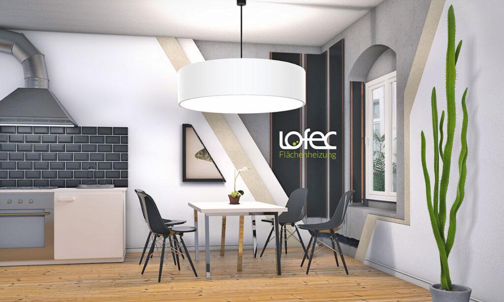 Brandt-Bodenbeläge verlegt Lofec Flächenheizungen in Küchen.