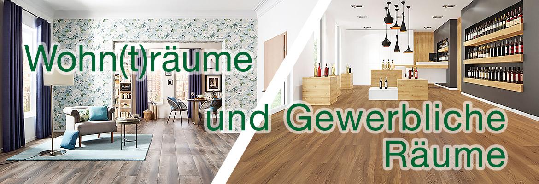 Wir verlegen Bodenbeläge in Wohnräumen und gewerblich genutzten Räumen.